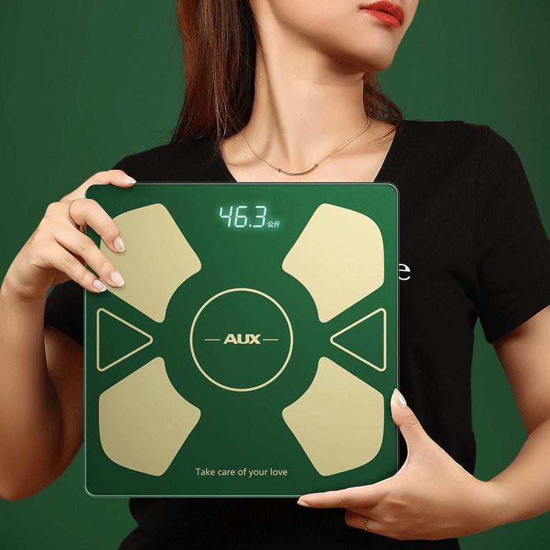 Smart balanças eletrônico escala digital equilíbrio de piso corpo gordura gordura diodo emissor de luz diodo emissor de luz USB carregamento medidor de grasa home produtos de50TZC