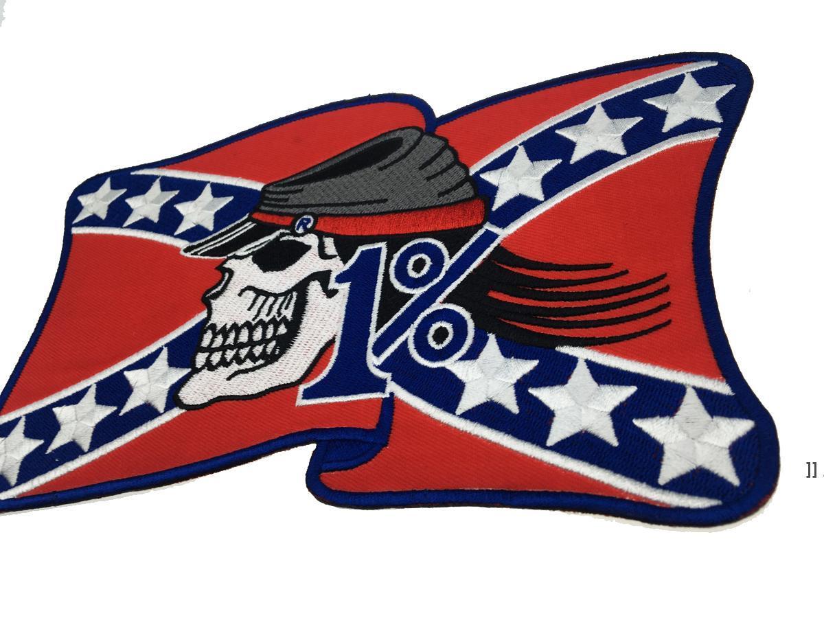 Cavaleiro de Personalidade Livre Rebel A Americana Bordado Motocicleta Motocicleta Back Patch MC Jaqueta Vest Couro 1% Bage OWD6444