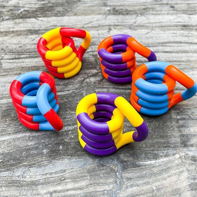 Tangles Fidget Togets Terapia Relax Therapy Alivio de estrés Sentimiento de Toy Blindado DecomPresión Cerebro Educativo Imagine Herramientas para enfocar