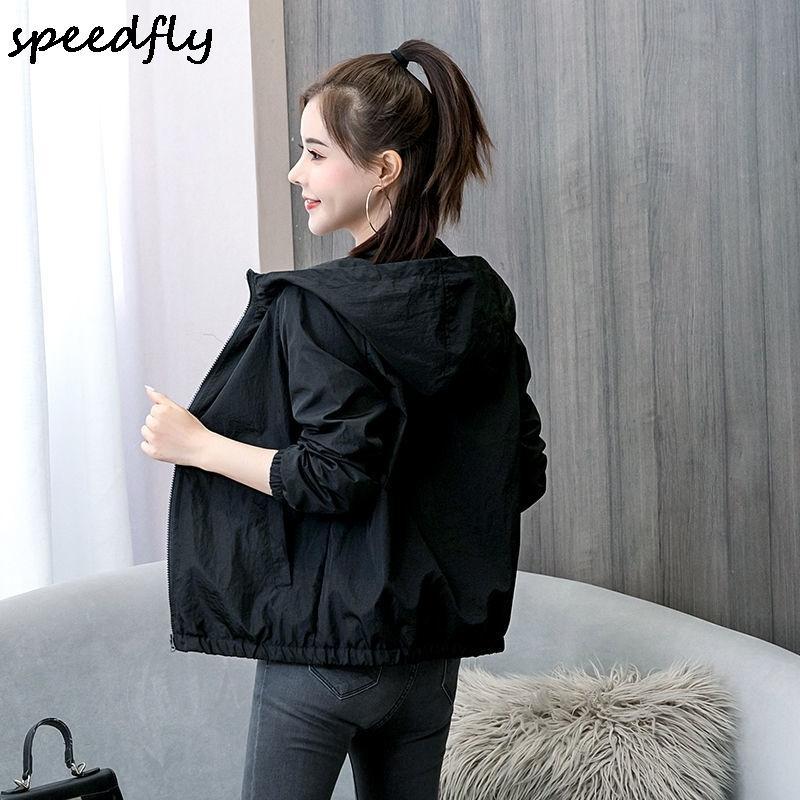 2021 Les nouveaux vêtements de printemps et d'été sont disponibles en stock Women manteau occasionnel Mince 107640853281