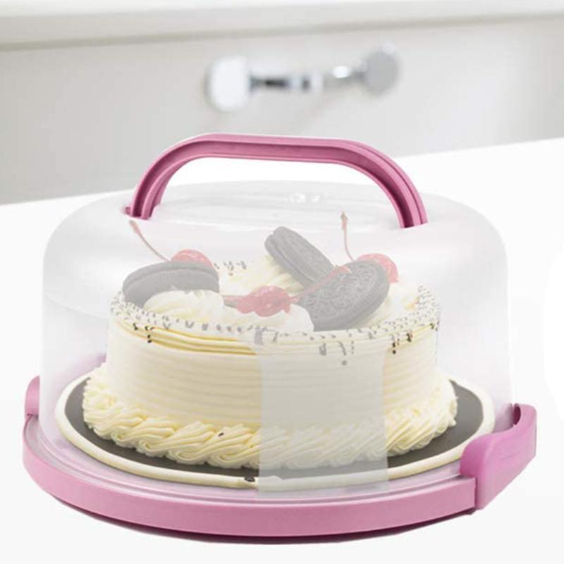 Бутылки для хранения JARS 10 дюймов портативный торт коробка круглые кондитерские держатель на день рождения свадьба кухня выпечки кекс перевозчик