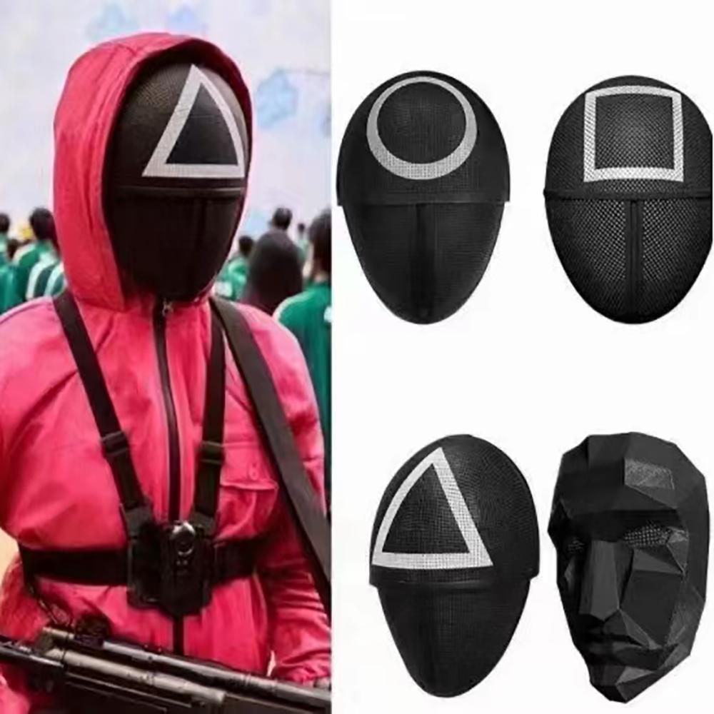 TV Squid juego Mascarillas enmascaradas Hombre Máscaras Redondo Squire Triángulo Máscara Accesorios delicado Halloween Mascarada Disfraz Party Props