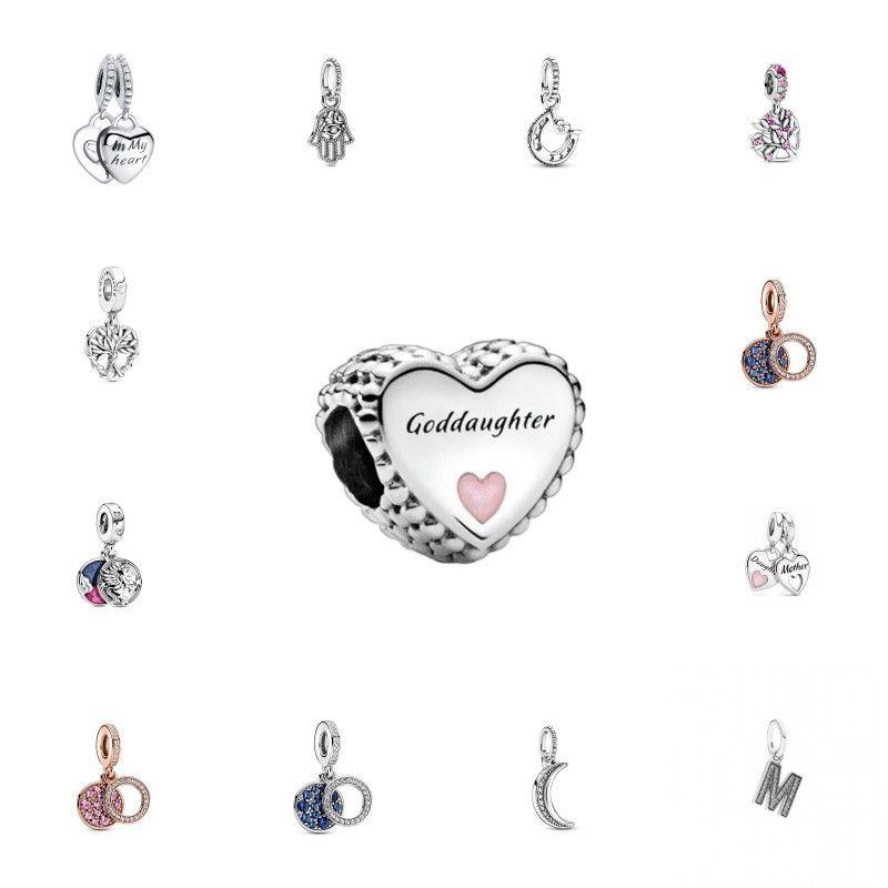 CKK Fit Pandora Bracciali Madre Figlia Charms Charms Argento 925 Perline originali per gioielli facendo sterling day Donne Q0225 747 T2