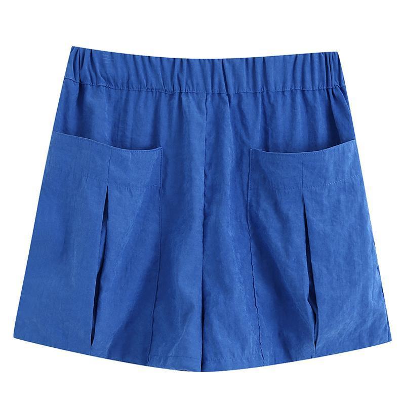 Elina verano casual sólido sólido pantalones cortos de mujer moda suelta cintura elástica corta elegante bolsillos femenino damas FI mujeres