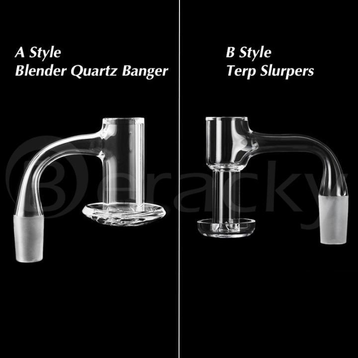 Two Optional Smoking 20mmOD US Full Weld Beveled Edge Terp Slurpers Blender Quartz Banger 10mm 14mm 18mm Nails For Glass Bongs Pipes Dab Rigs