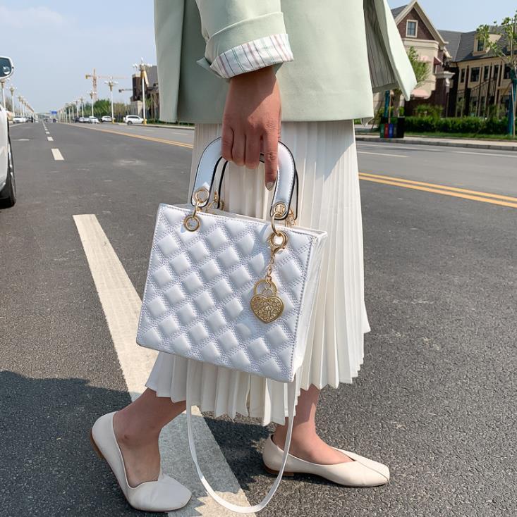 Sac Femme Classic Diamond motif Totes 2021 Mode Haute Qualité PU Cuir Sac à main Sac à main Bandoulière Bandoulière