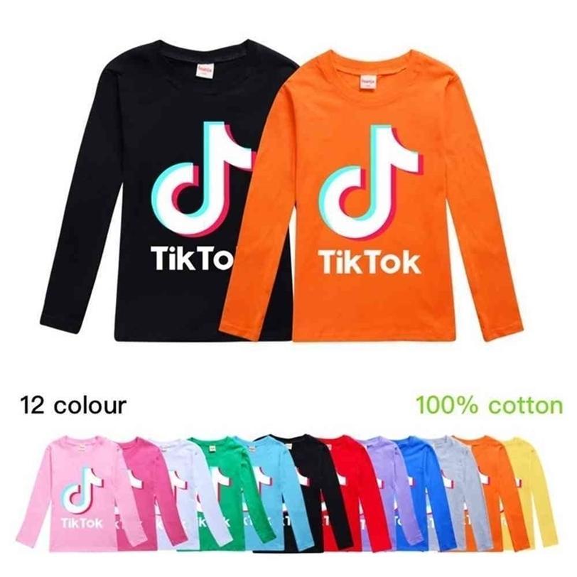 Tik Tok Kids Long Sleeve Round Neck Hoodies Boys Girls Tops Teenager TikTok Sweatshirt Jacket Coat Cotton Clothing G40DPMW