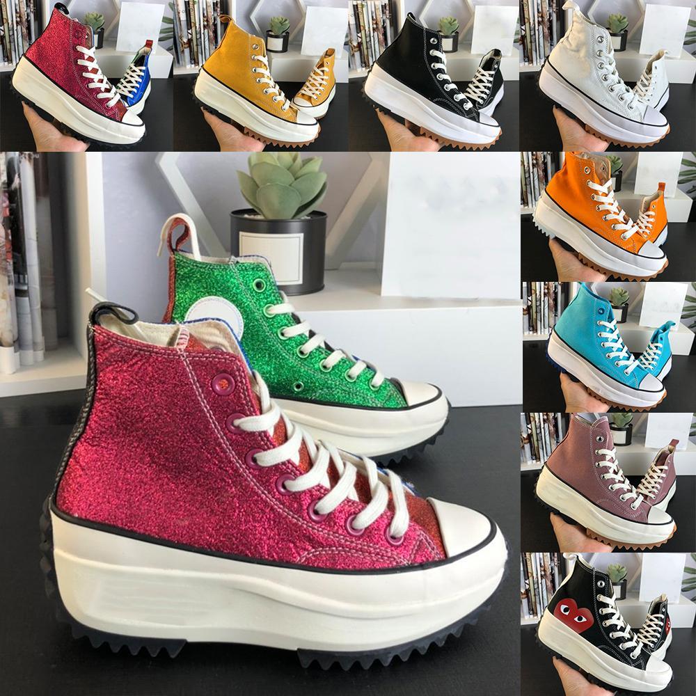 Rulo ayakkabı run Star Hike 1970'ler Anderson Rahat 1970 JW Tuval Süper Sünger Kek Zigzag alt kadın Platformu Ayakkabı Moda Plimsolls Siyah ve Beyaz Boyutu EUR 35-40