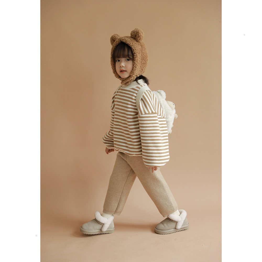 Толстовки для толстовок Физические Стрелки Полосатый свитер Свитер с кашемировым младенцем Топ Пуловер Теплый детский зимний мужской одежды