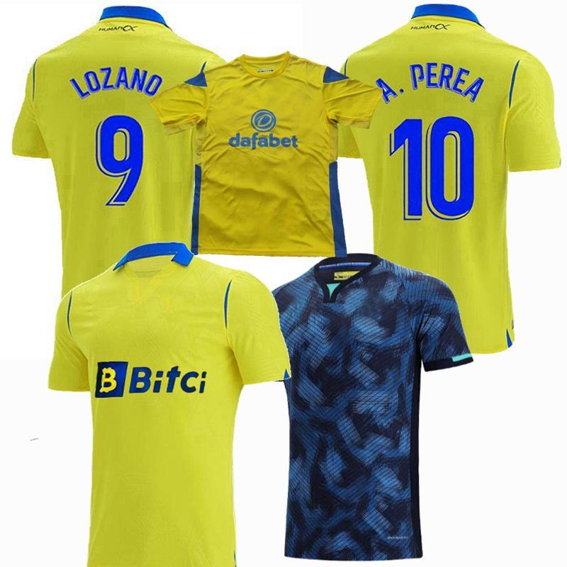 Cádiz 2021 2022 Jerseys de futebol CF Home A.Negredo A.perea 21 22 Camisa de futebol