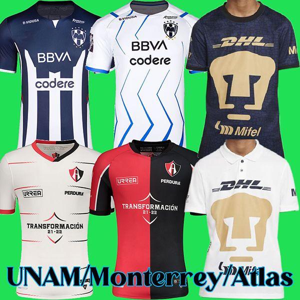 21 22 MX club UNAM soccer jerseys Atlas FC football shirt 2021 2022 Monterrey Camisa de futebol maillot foot