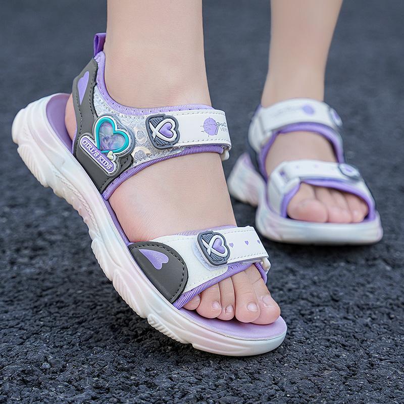 Sandals Summer For Girls Kids Beach Shoes Children Brand Fashion Anti-Slip Sports Unisex Closed Toe Comfortable