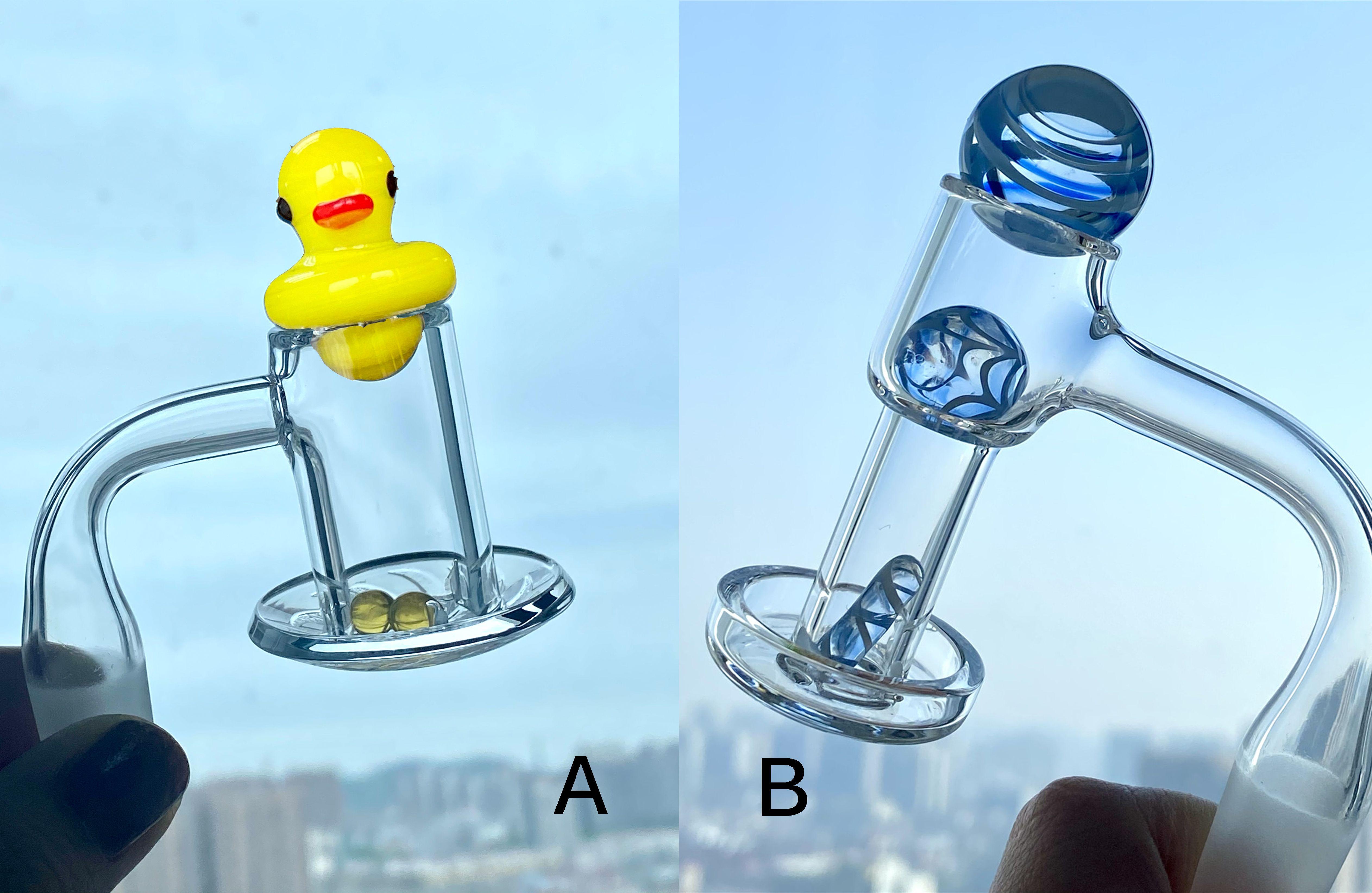 TERP TERP TERP perle quarzo quarzo Banger Nail Smoke Carb Cap Spinner Set 25mm Palla di marmo per DAB Rigs Glass Bongs