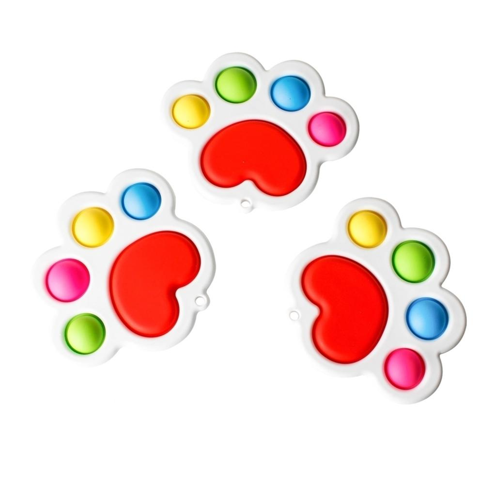 Tiktok Bambini Rainbow Bubble Poppers Push Pop Fidget Giocattoli Sensory bolle Popper Puzzle Board Puzzle Adulto Bambini Ansia Stress Stress Reliever Poo-il suo gioco desktop HH41Epo8