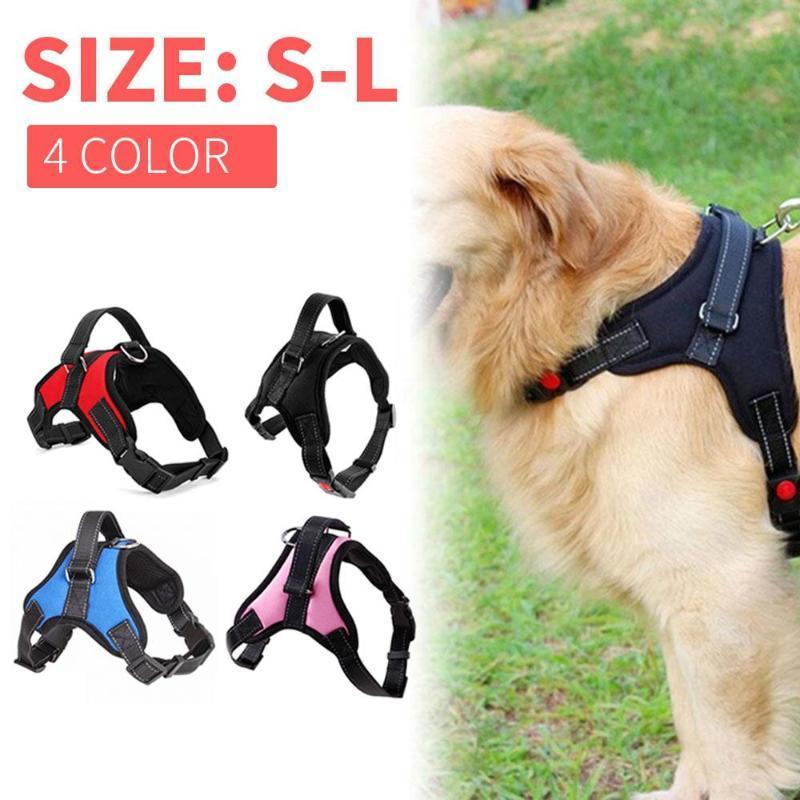 Hundekragen Leinen Schleppseil S, M, L-elastischer Gurt einziehbares Nylon ausziehbarer Outdoor-Leine Automatische Haustier-Brustkopf-Spaziergang