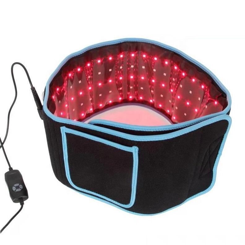 المحمولة الصمام التخسيس الخصر أحزمة الضوء الأحمر الأشعة تحت الحمراء العلاج حزام الإغاثة آلام lllt انحلال الشحن شكل الجسم النحت 660nm 850nm ليبو الليزر