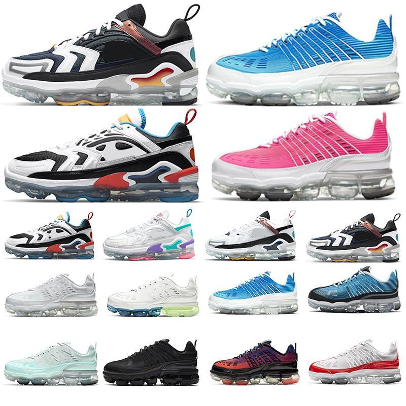 air VaporMax EVO 360 kadın erkek koşu ayakkabısı bayan Vapormaxs 2021s 360s 2020s Oreo Summit Beyaz Duman Gri Gazete Baskısı Siyah Multi outdoor örgü spor ayakkabı