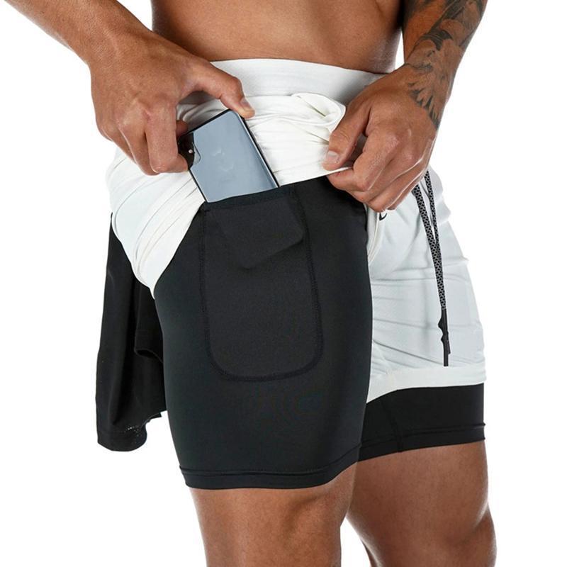 Koşu Şort Erkekler Yaz Koşu Spor Salonu Fitness Eğitimi Hızlı Kuru Spor Egzersiz Çok Siyah 2 1 erkek