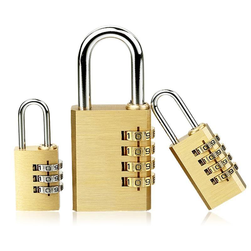 Высокое качество Padlock сплошной латунный замок цифры комбинированного пароля секретный код для тренажерный зал. Открытый шкафчик Case Медь из нержавеющей стали Smart