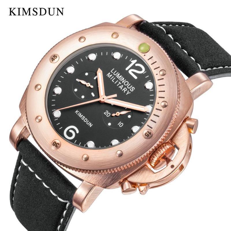المعصم العسكرية الرجال ووتش kimsdun العلامة التجارية التلقائي الأزياء الميكانيكية الأعمال للماء سيليكون ذكر ساعة relogio