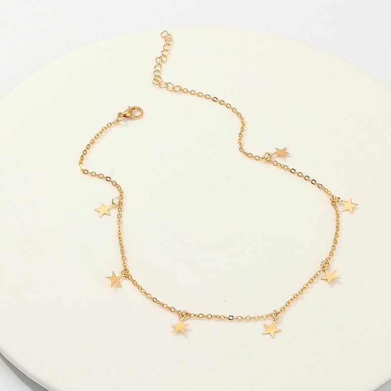 Moda lunga collane estate nuovo stile boemia oro argento color stella stella luna collana donne boho ciondoli ciondoli gioielli girocollo 220 N2