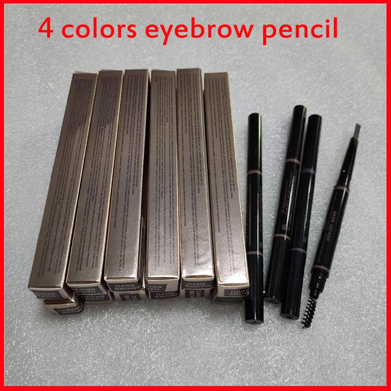 Maquiagem de sobrancelha maquiagem make-up makeny testa lápis ouro duplo terminado com escova de sobrancelha 5 cor Ebony / Médio / Soft / Dark Drop Ship