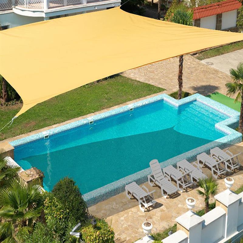 الظل للماء الشمس المأوى 3x2m مستطيل المظلة التظليل صافي للخارجية حديقة الشاطئ التخييم حمام سباحة مظلة الشراع