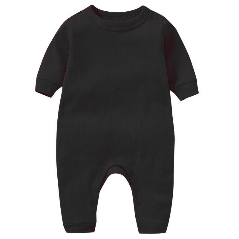 Новорожденные детские комбинезоны младенческие твердые цвета Rompers детей с длинным рукавом oneys Boys одежда 365 J2