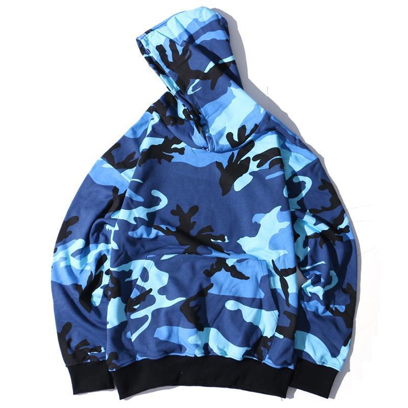 Hoodies dos homens moletom camo homens hip hop camuflagem pulôver masculino moda casual hoodie streetwear 8 cores st08