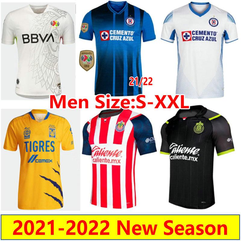 Mexiko Liga MX 2021 2022 Cruz Azul Fussball Trikots Home Away Tigres Unam Gignac Club Amerika Leon 21 22 Monterrey Fussball Hemden Chivas Pachuca Cameintas de Futol