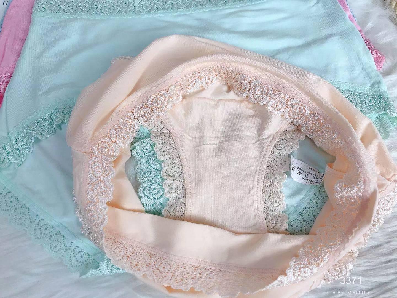 Mutandine 3371 # Vita alta Versione grande della biancheria intima da donna modale