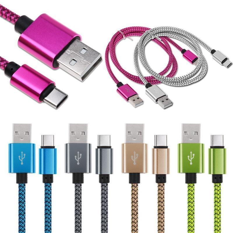 Cabos de carregamento de dados USB 3.1 Tipo C Micro 3 6 9ft Cordão Cordão Cordão Colorido Design