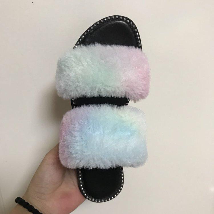 Zapatillas de mujer color plana de tamaño plano de tamaño plano grande