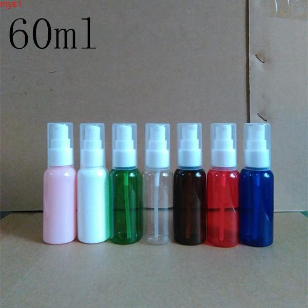 Bomba de plástico de 60 ml Embalaje vacío Loción de botella de ducha Gel Champú OriginalEjeción de la muestra recargable Contenedores cosméticos Cantidades de alto