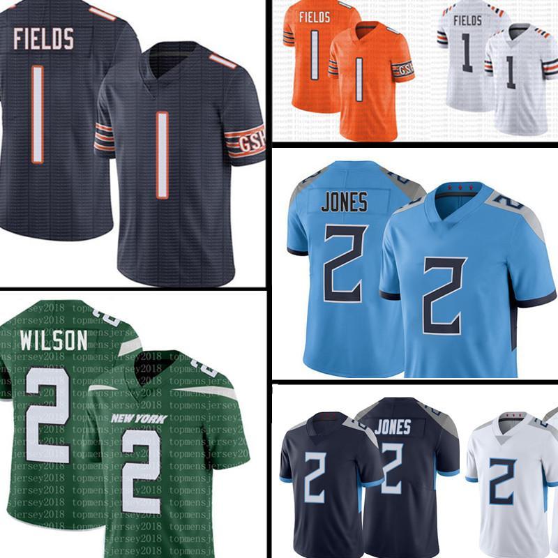 1 Justin Fields Jersey Zach Wilson 2 Julio Jones Football Jerseys 5 Trey Lance 2021