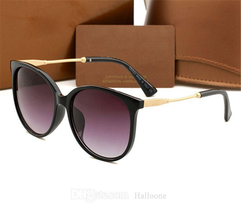 5A + Qualität Männer Frauen Luxus Sonnenbrille Vintage Pilot Marke Sonnenbrille Designer Eyewear UV400 Ben mit Original Box und Fall 1719