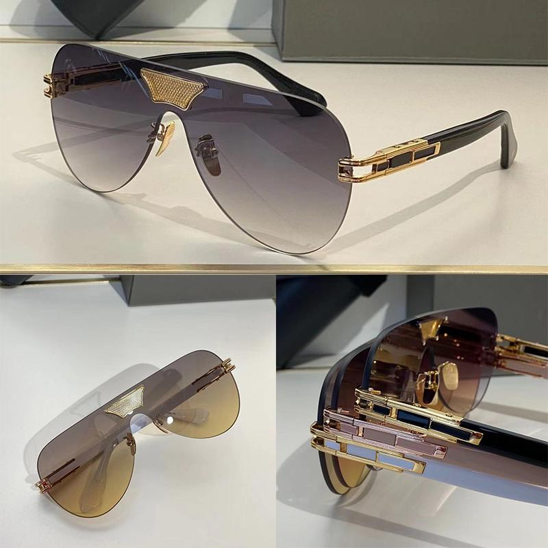 Sunglasses For Men and Women Summer style Anti-Ultraviolet Retro Plate GRAND ANE Oval Frameless fashion Eyeglasses Random Box