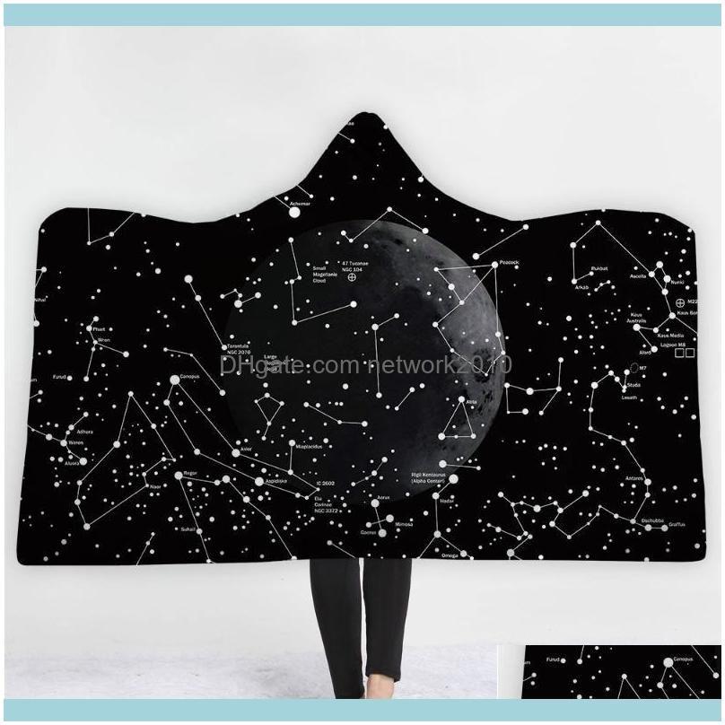 البطانيات المنسوجات الرئيسية GardenBlankets النجوم سماء النجوم كوكبة بطانية إبقاء دافئ لينة مريحة تصميم الأمريكي بسيط نمط backg
