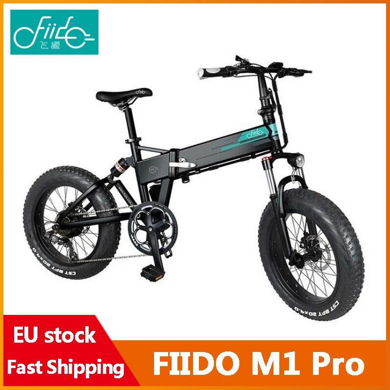 [EU-Instock] Fiido M1 Pro Elektrische Fahrrad 20 Zoll Fettreifen 12.8ah 48 V 500 Watt Falten Moped Fahrrad 50km / h Höchstgeschwindigkeit 130km Kilometer Reichweite Inklusive Mehrwertsteuer
