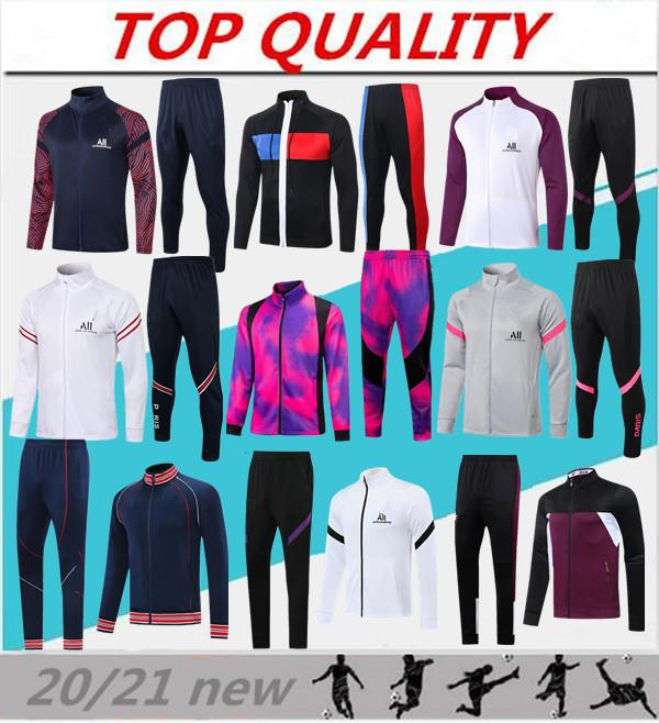 2020 2021 Paris football jacket tracksuit MBAPPE PSG soccer Training suit 20-21 Maillot de football VERRATTI ICARDI jogging survetement