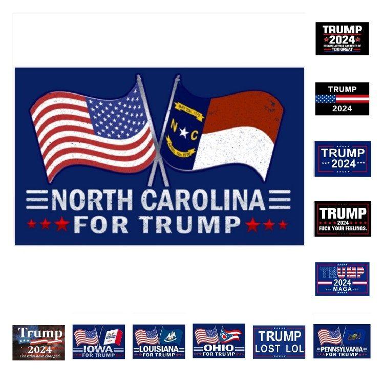 Banner-Flaggen Polyester Trump Flaggen 2024 US-Präsidentschaftskampagne für Wahlflagge 90 * 150cm 38-Party-Party-Supplies T2I52159
