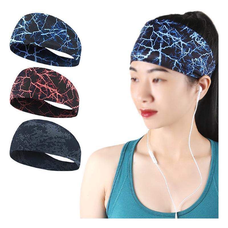 Breathable Sweatband Sports Gym Headband Anti-Slip Women Men Basketball Fitness Yoga Volleyball Cycling Hair Band Caps & Masks