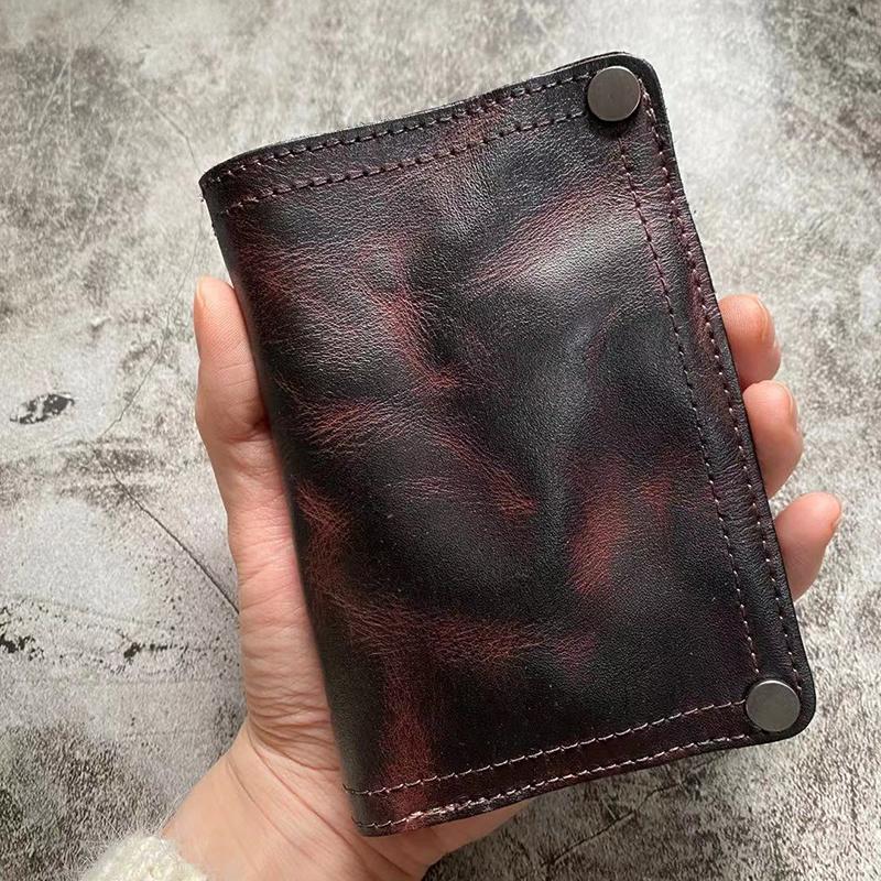 Vintage artesanal de couro genuíno carteiras homens carteira de carteira de carteira homem zíper moeda bolsa bolsa de dinheiro homens curto