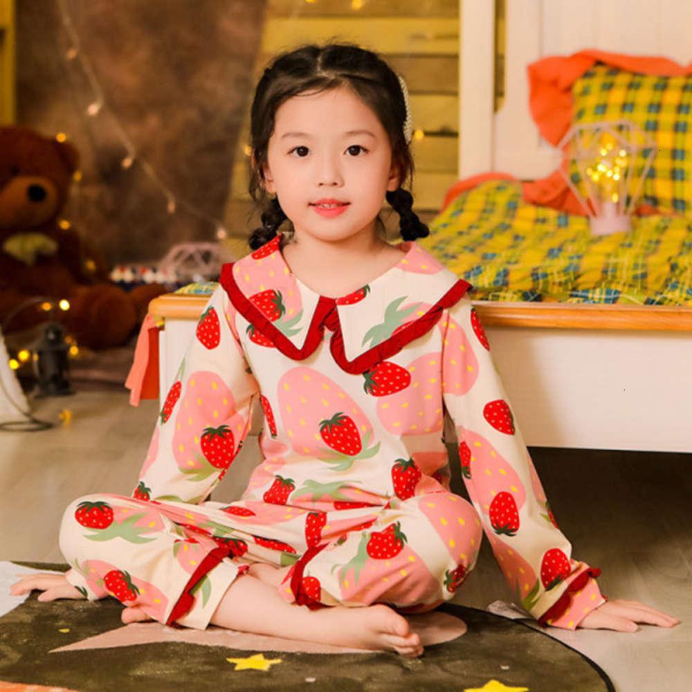 Pajamas физические съемки весной длинные осень девушки тонкие кондиционированные одежда детская домашняя ткань детский костюм