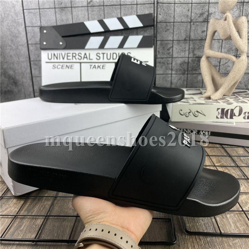 Paris Kaydırıcılar Erkek Bayan Yaz Sandalet Plaj Terlik Bayanlar Çevirme Loafers Siyah Beyaz Pembe Slaytlar Chaussures Ayakkabı
