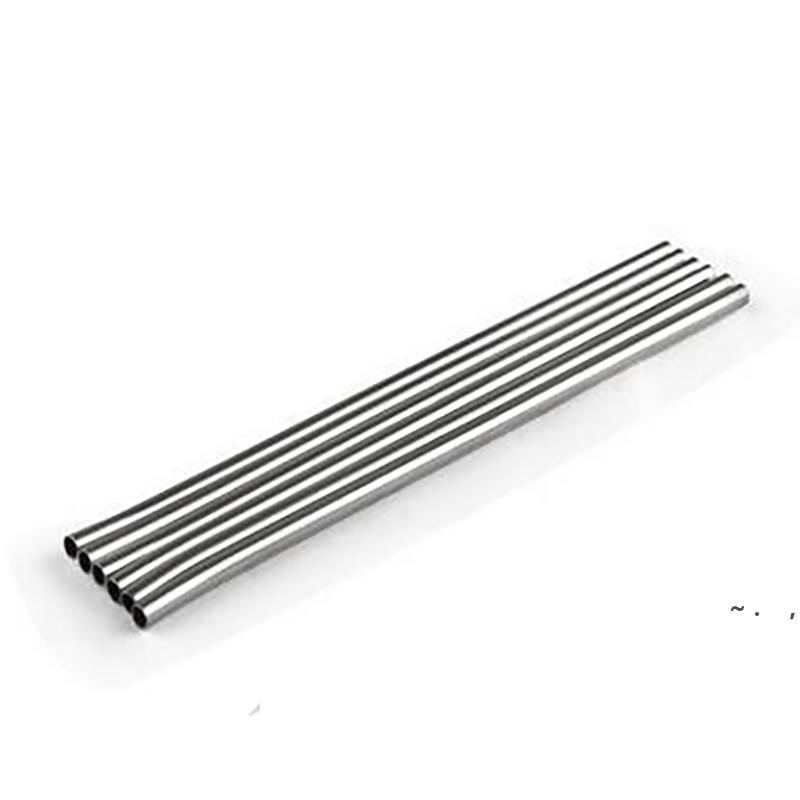 """100 pcs de aço inoxidável de aço inoxidável Palhas de beber 8.5 """"Reusável Eco Metal Beber Beber Bebida Bebidas Limpeza Escova BWC7297"""