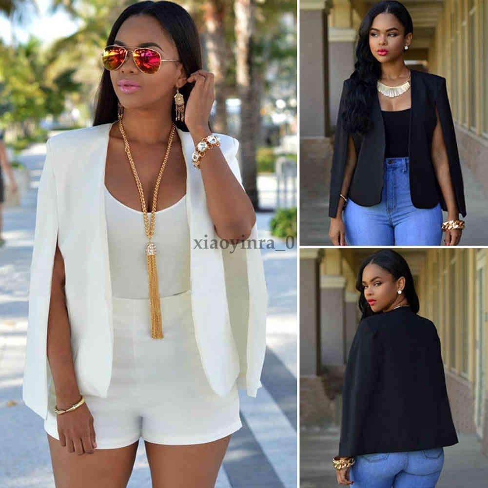 Fashion Office Lady Women Thicken Jacket Blazer Suit Cape-style Coat Outwear Windbreak Tops Solid Stylish Cardigan Clothing Wear