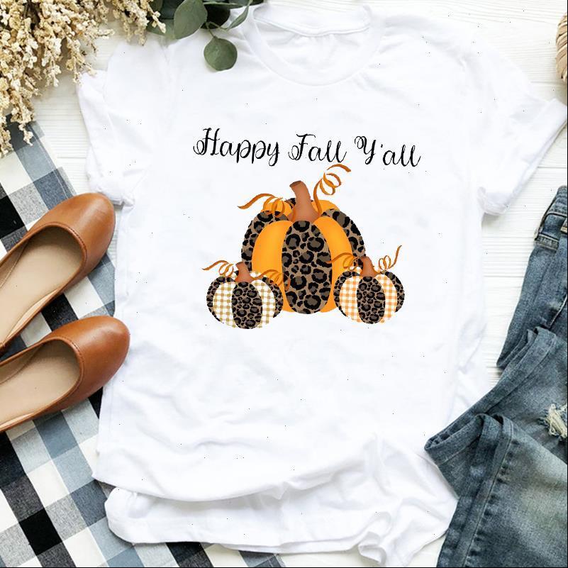 Leopard Kürbis Herbst Nette Frauen T-Shirt Thanksgiving Halloween Druck Tee Kleidung Grafik