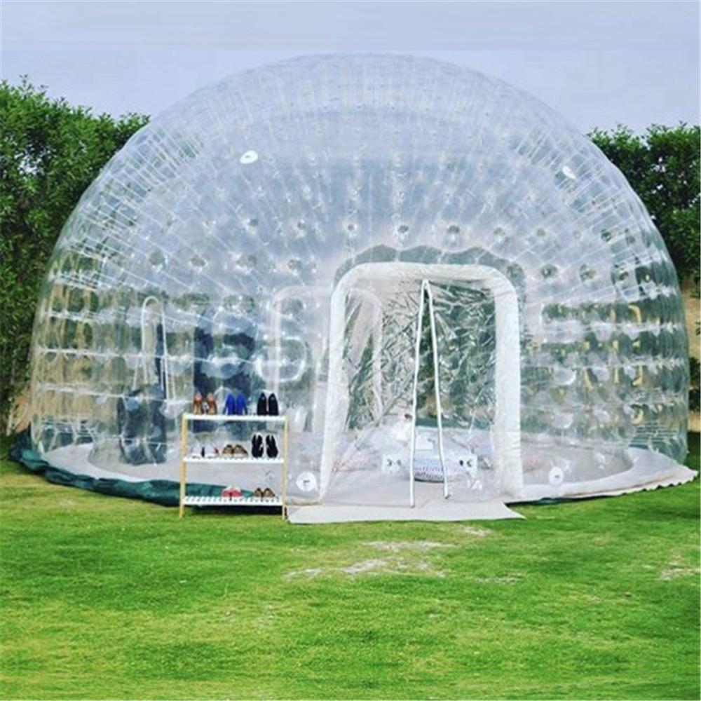 Tenda de acampamento hermética inflável para aluguer, hotel de publicidade de quintal familiar com esteira