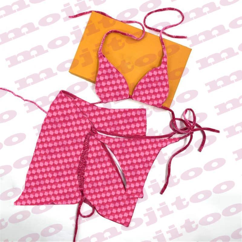 إمرأة مثير بيكيني اللباس 3 قطع مجموعة الصيف ملابس السباحة الرئيسية ارتداء المنسوجات الأخرى الكتف المرأة ملابس السباحة البيكينيات